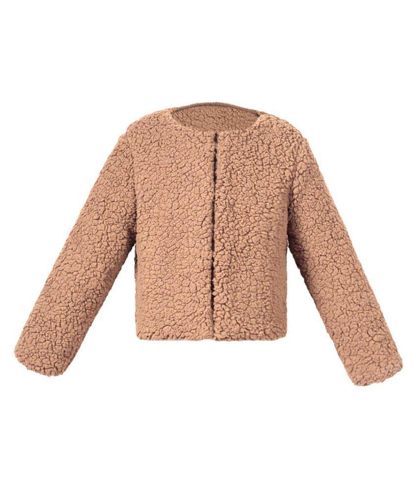 Little Kids Girls' Outerwear Solid Color Jacket Winter Long Sleeve Warm Coat