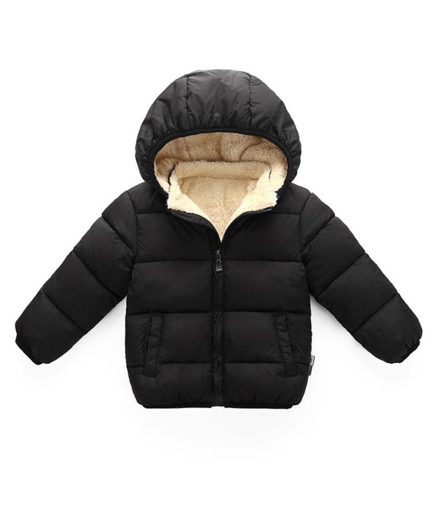 Baby Boys Girls Long Sleeve Fleece Down Jacket Warm Coat Cotton Padded Outwear
