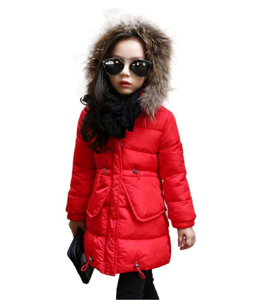 Fashion Children Girls Winter Warm Long Sleeve Zipper Padded Coat Wadded Jacket