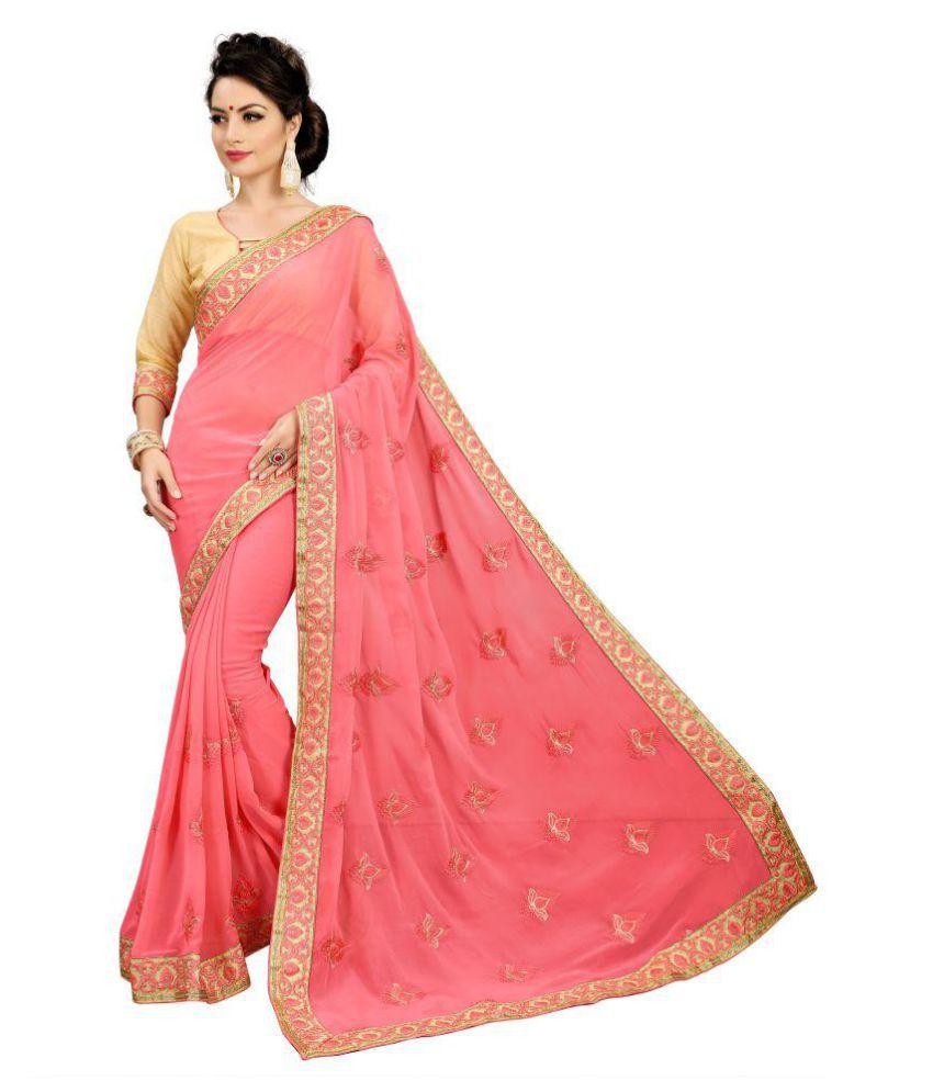 SERENEVA SALES Red and Pink Banarasi Silk Saree