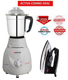 Activa Pluto 500 Watts 1 Jar Mixer Grinder With Free Electric Dry Iron
