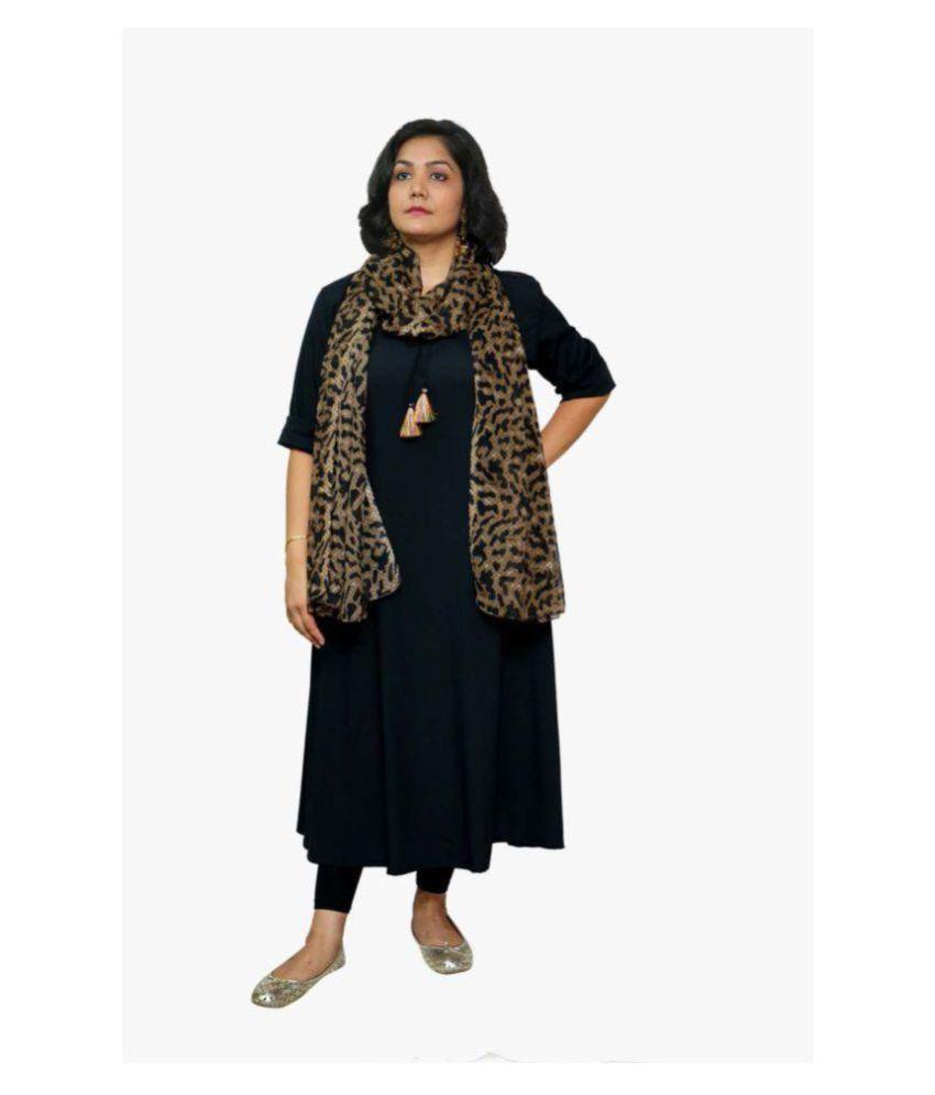 9795df7d86 GraceDiva Brown Georgette Animal Print Dupatta Price in India - Buy ...