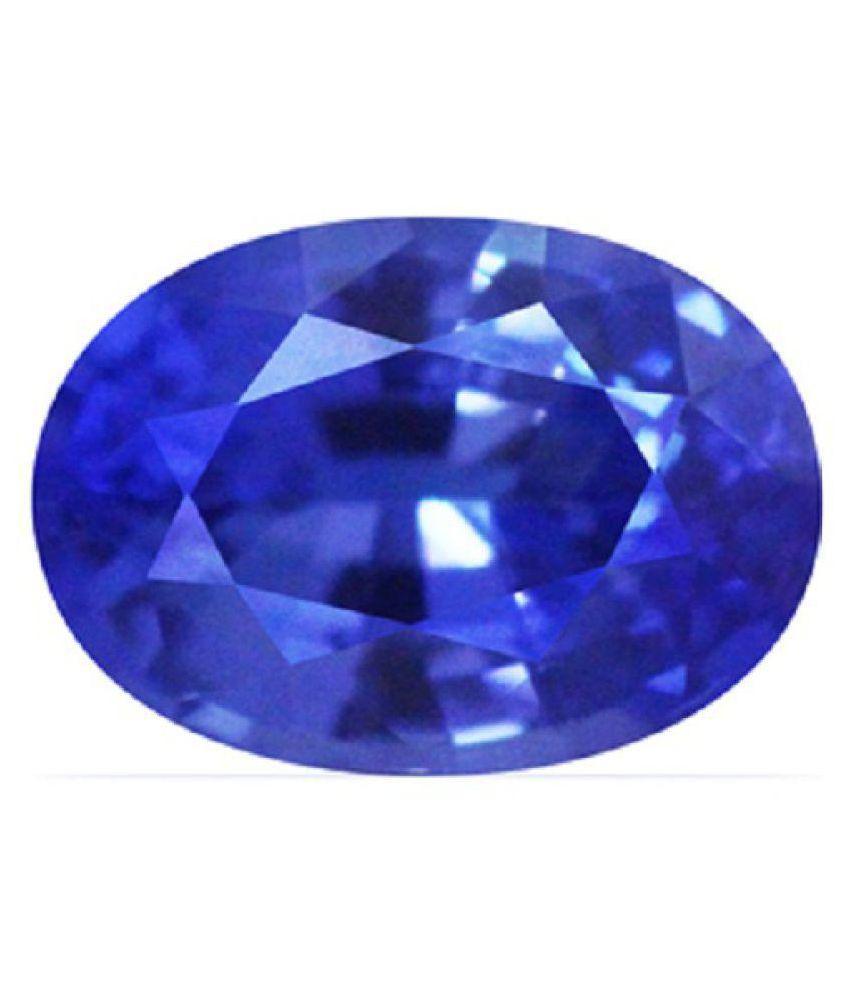 White Hills Stone 7.75 -Ratti IGI Blue Blue Sapphire (Neelam) Precious Gemstone