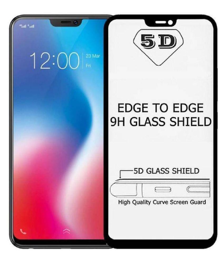 Xiaomi Redmi 6A Color Glass Screen Guard By Head Kik Edge To Edge Full Screen Cover 5D Tempered Glass