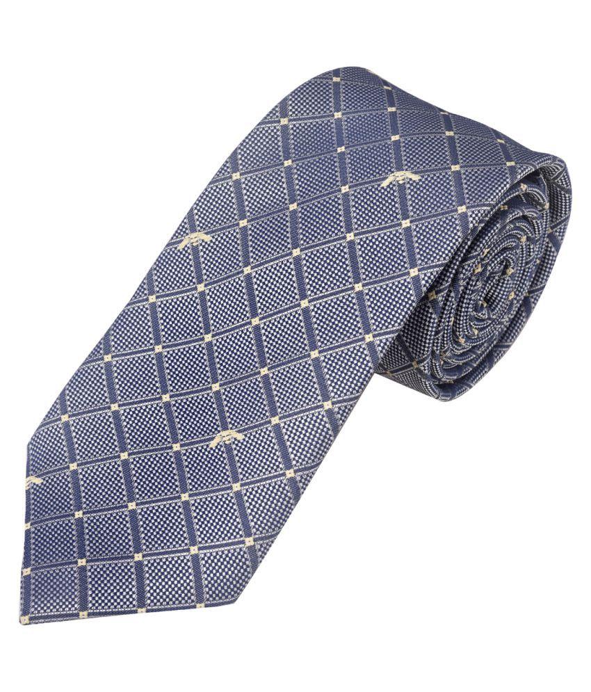 exotica fashion Blue Geometrical Silk Necktie