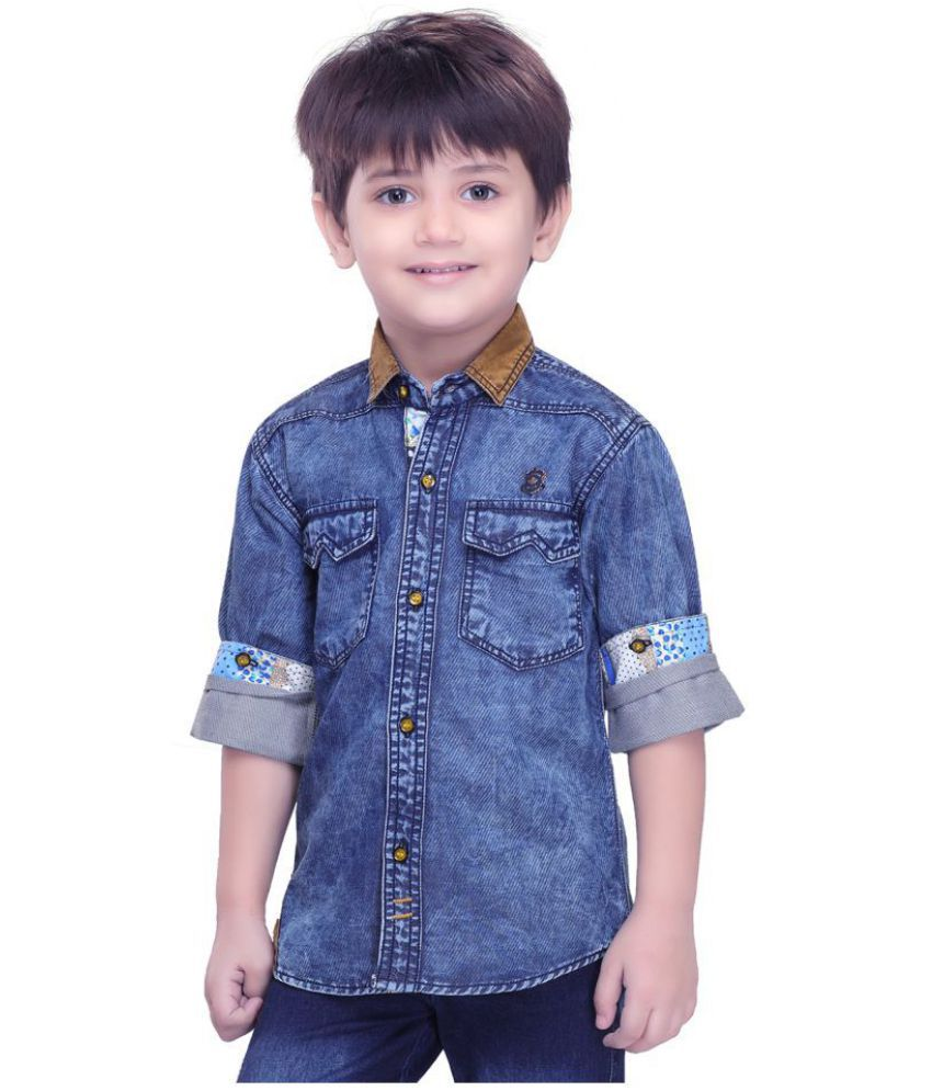2aef4b4a18 Kooka Kids Boys Full Sleeves Denim Shirt - Buy Kooka Kids Boys Full Sleeves  Denim Shirt Online at Low Price - Snapdeal