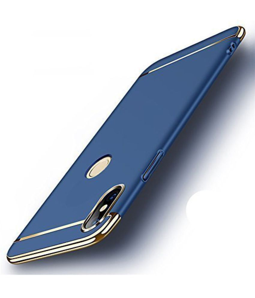 Samsung Galaxy J2 2018 Plain Cases Doyen Creations - Blue 3 In 1 Back Cover
