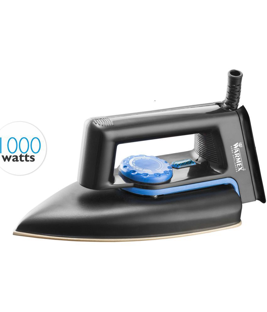 Warmex Home Appliances Trendy Black Dry Iron Black & Blue