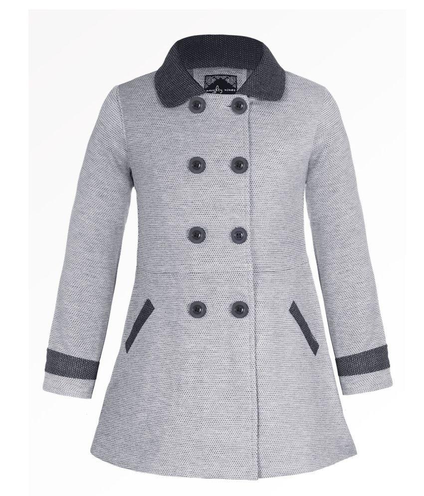 Naughty Ninos Girls Light Grey Fleece Front Open Jacket