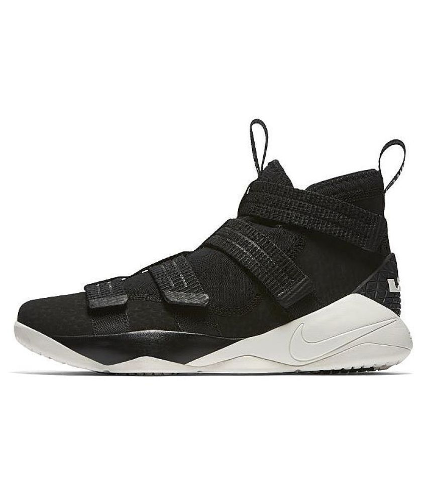 buy popular 985f6 130df Nike Lebron Soldier x11 Basketball Running Shoes Black