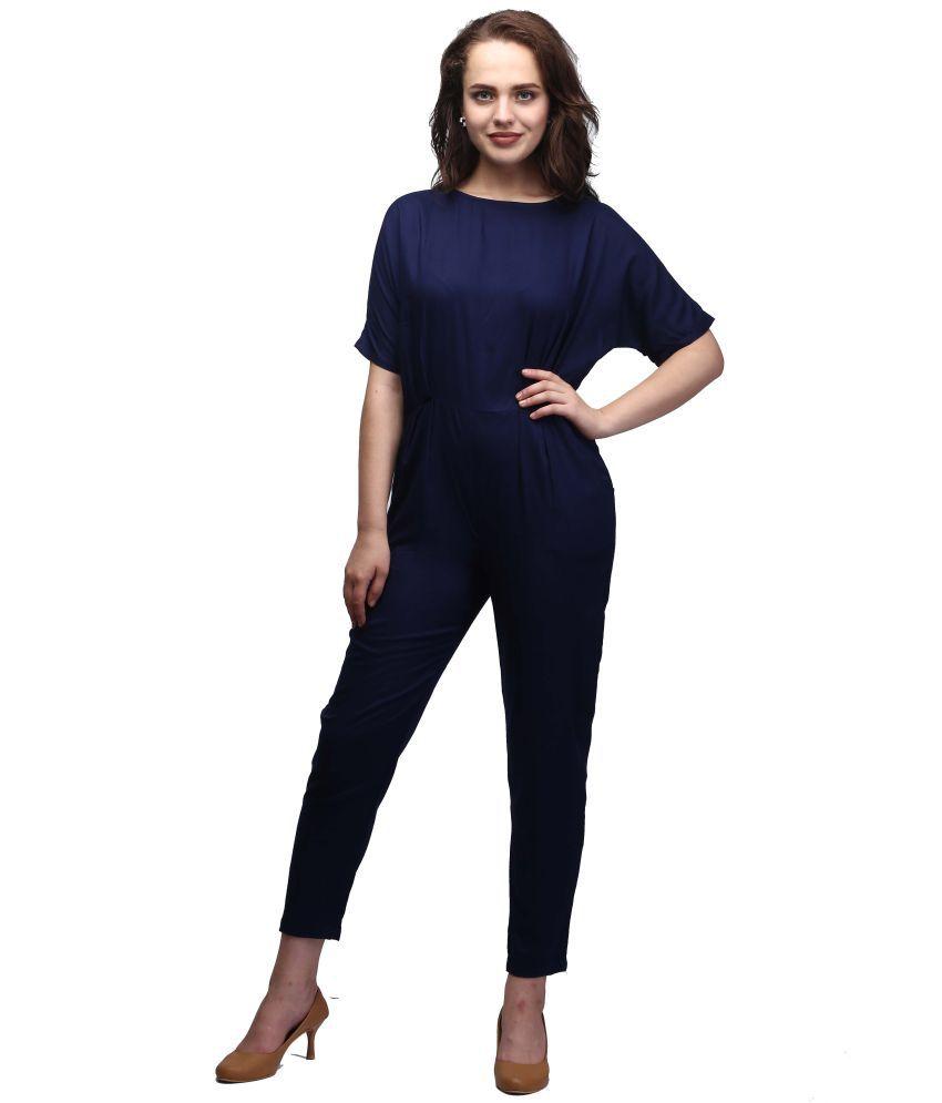 Shubhangini Fashion Blue Rayon Jumpsuit