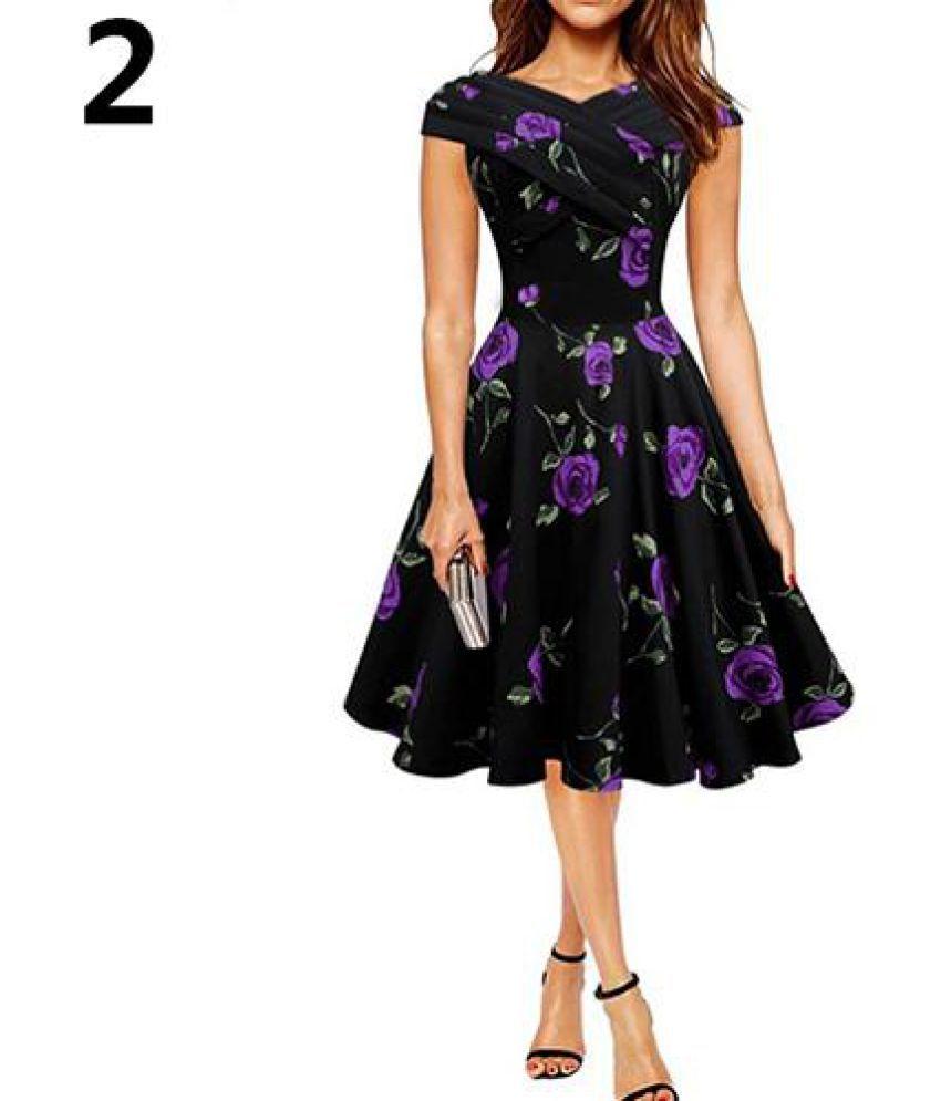 Generic Cotton Purple Asymmetric dress