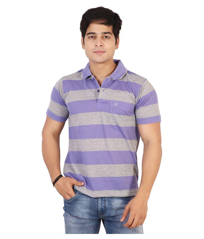 Awack Purple Half Sleeve T-Shirt