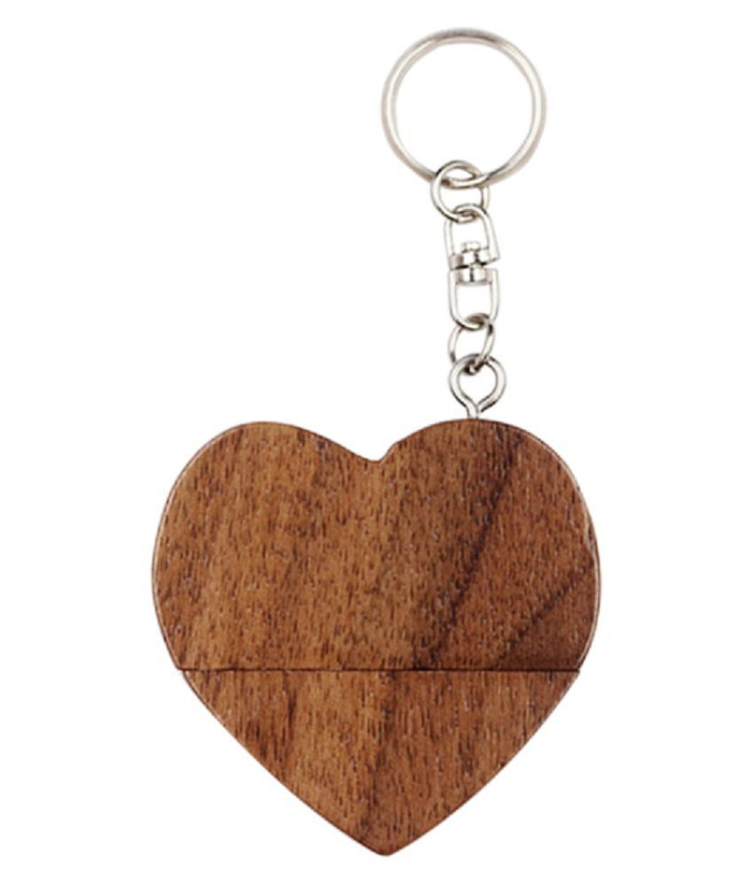 Pankreeti Wooden Heart 32GB USB 2.0 Fancy Pendrive Pack of 1