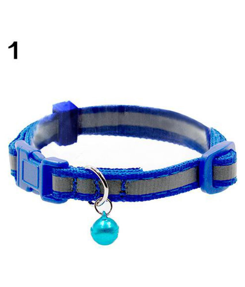 Pet Dog Puppy Cat Soft Reflective Neck Strap Pet Collar Safety Buckle with Bell