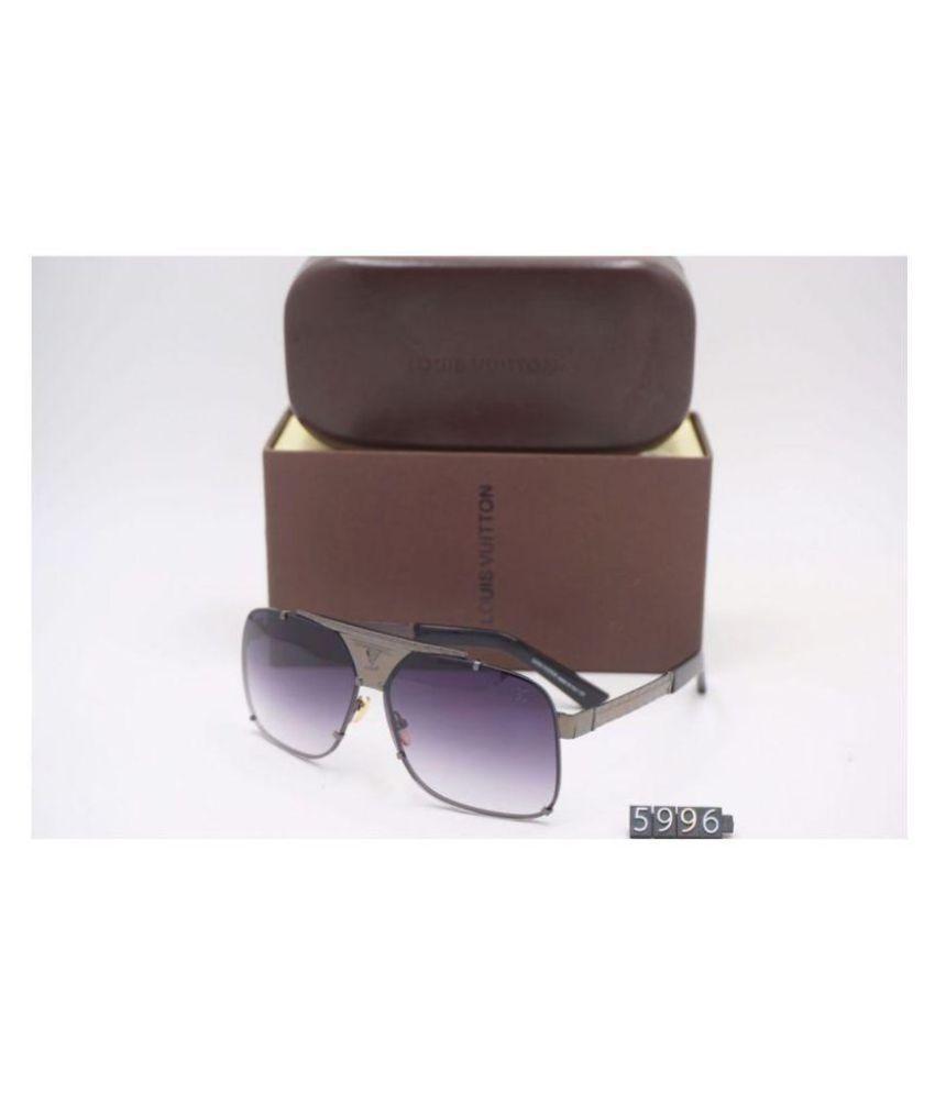 LOUIS VUITTON SUNGLASSES Purple Square Sunglasses ( LV5996 )