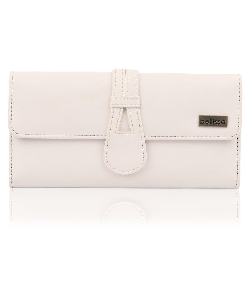 Bellissa International White Faux Leather Sling Bag