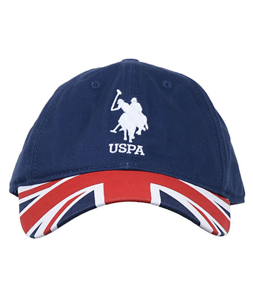 U.S. Polo Assn. Blue Plain Cotton Caps