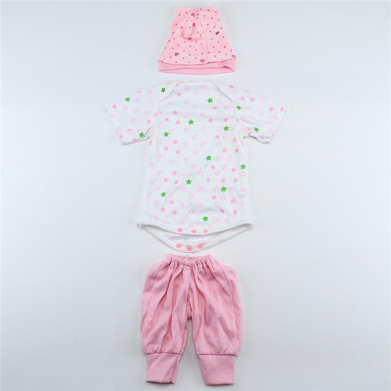 82e2f08a1 Hat Suits for 55cm Reborn Babies Dolls Baby Clothes 22 inch Handmade ...