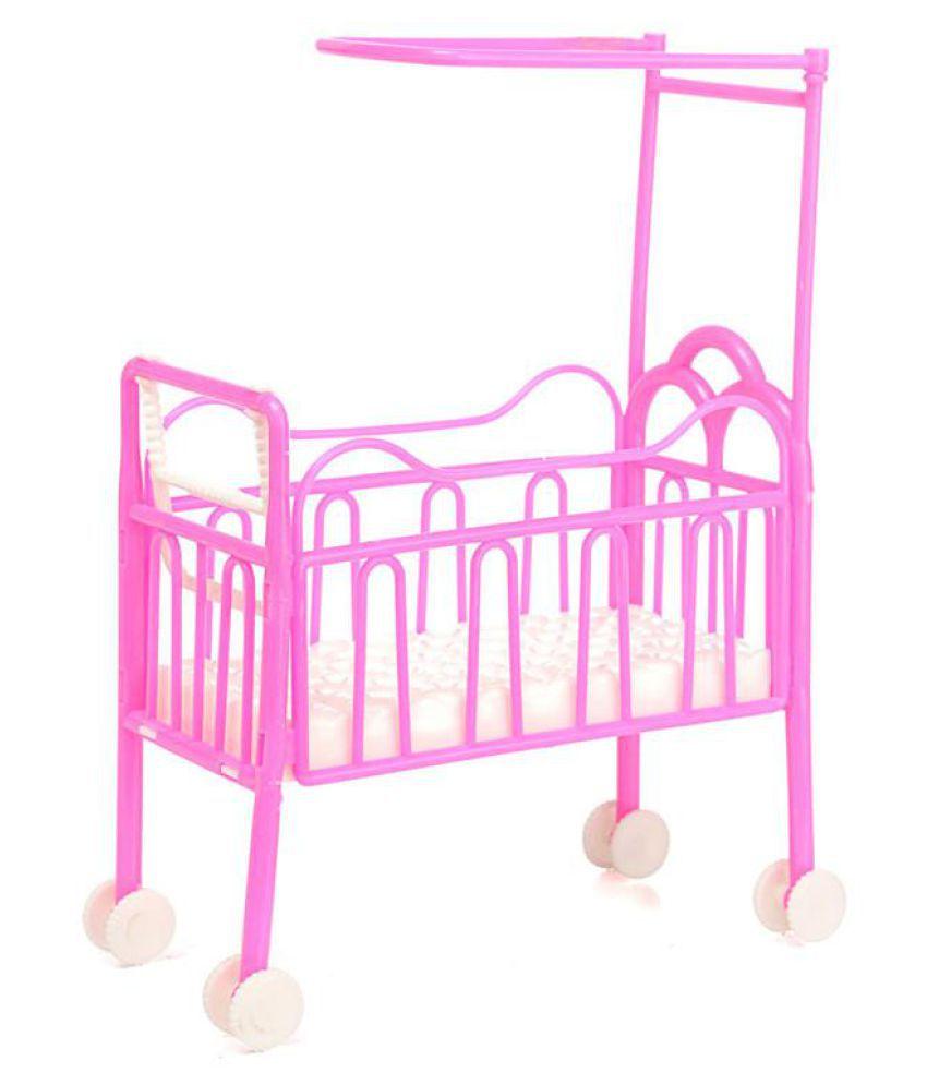 Beautiful Plastic Bed Bedroom Furniture For Barbie Dolls Dollhouse N3