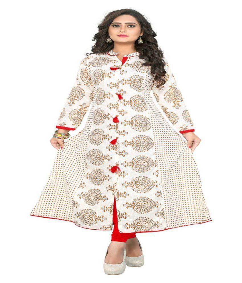 Radhe Craetion Multicoloured Cotton Anarkali Kurti