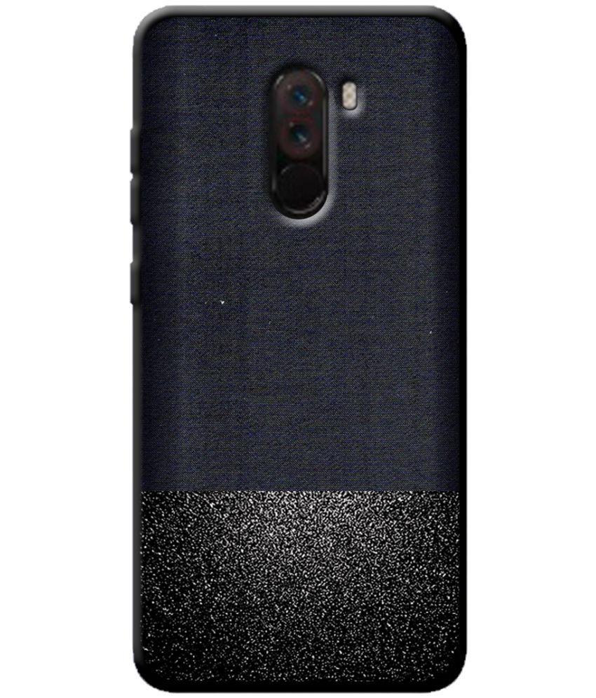 uk availability b65f6 8adf4 Xiaomi Redmi Poco F1 Soft Silicon Cases Cellmate - Black Premium Look Soft  Fabric Protective TPU Waterproof