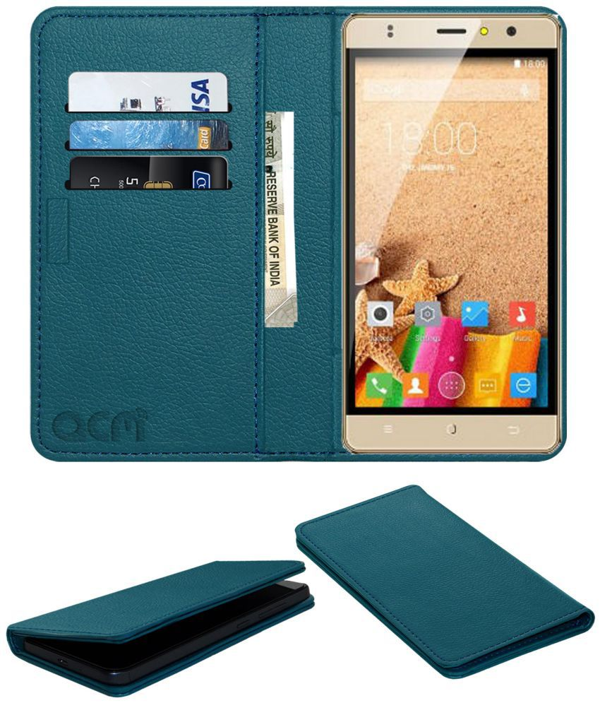 ZOPO COLOR F2 Flip Cover by ACM - Blue Wallet Case,Can store 3 Card/Cash