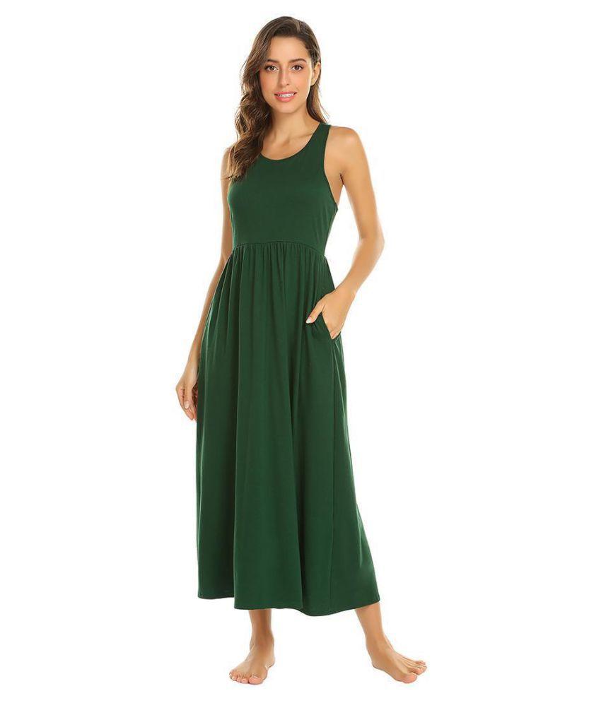 Generic Cotton Nightsuit Sets - Green