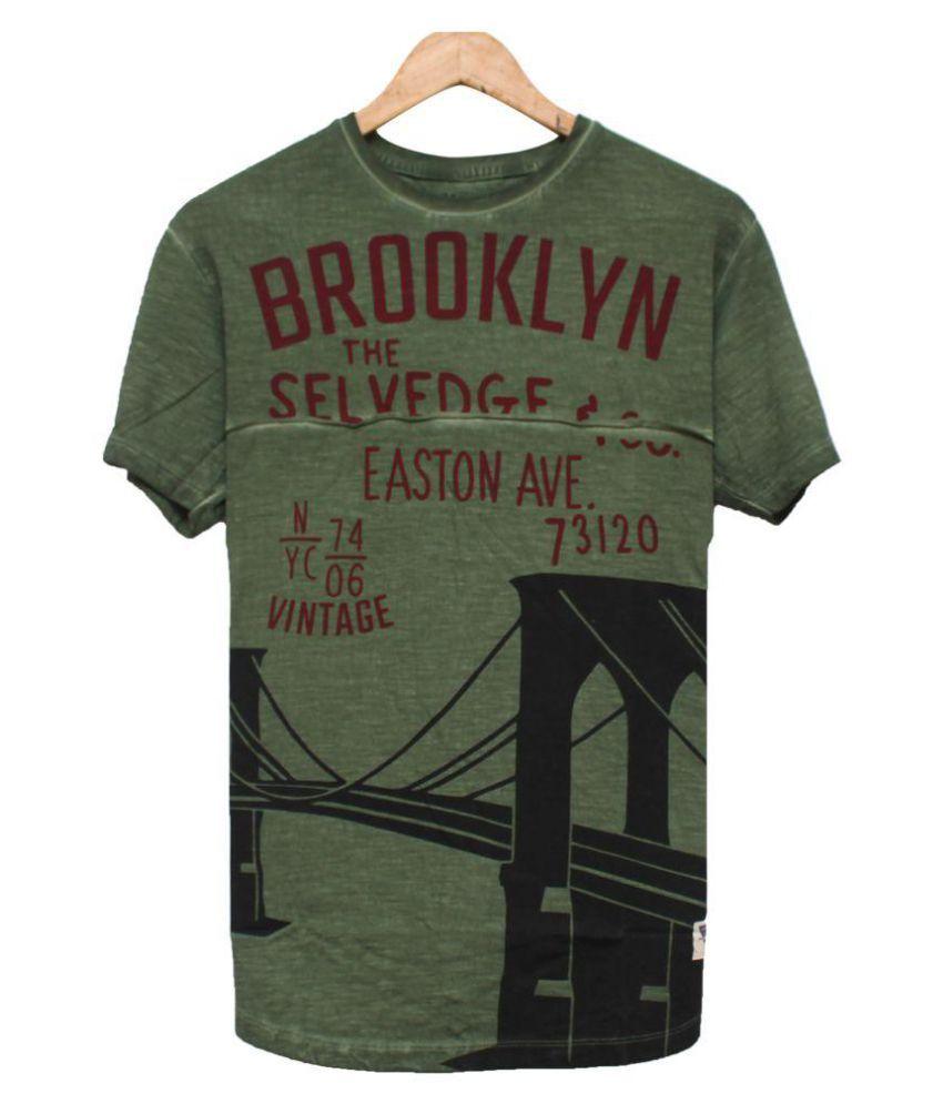 Colour Hunt Green Half Sleeve T-Shirt