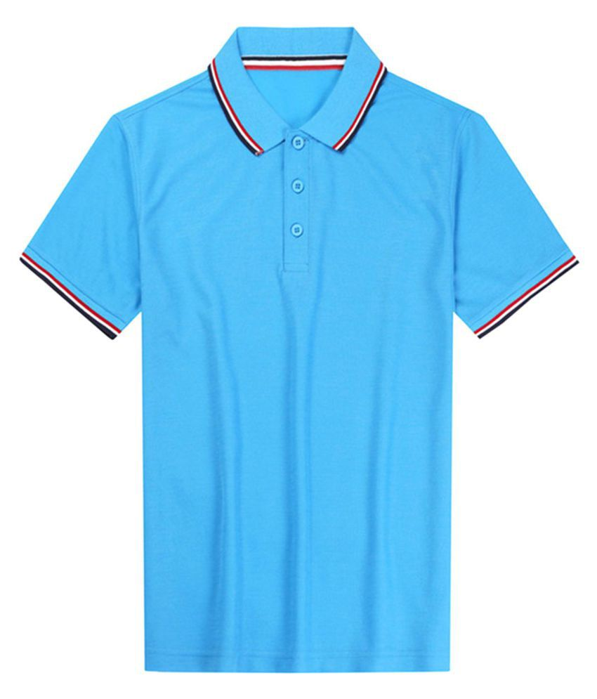Generic Blue Half Sleeve T-Shirt