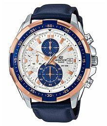 Men Fashion EX306 Blue Leather Analog Men's Watch