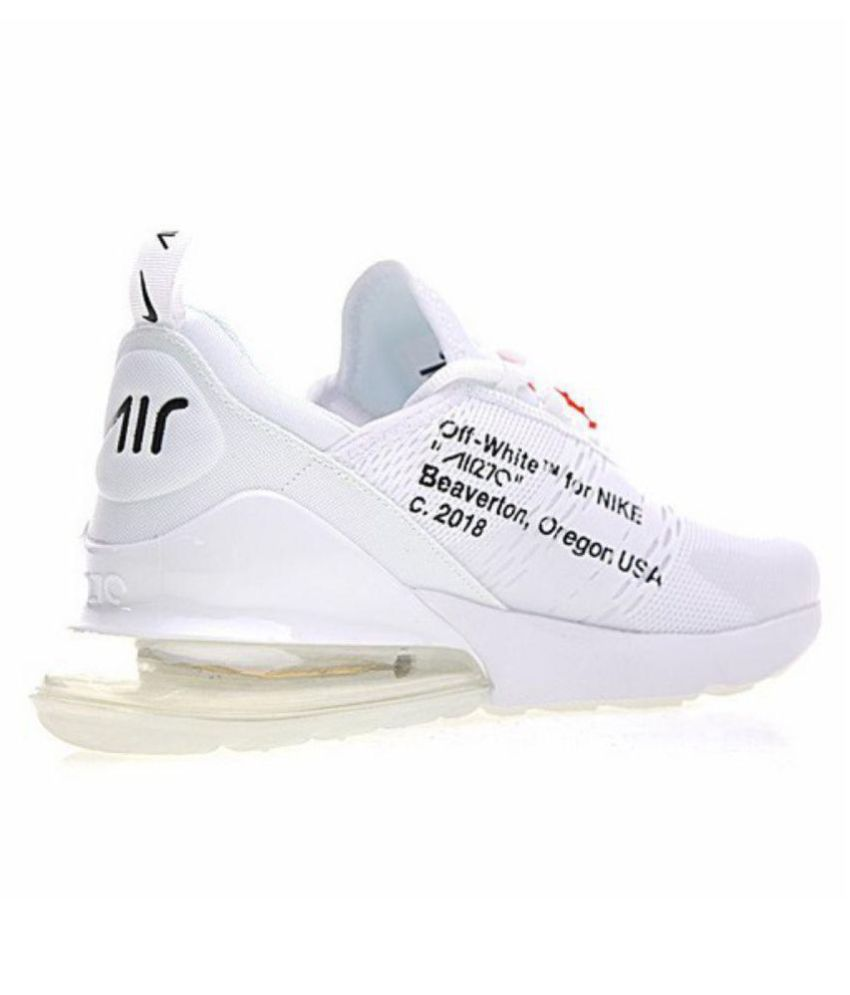 d49d26503a NIKE AIR 270 Outdoor White Casual Shoes - Buy NIKE AIR 270 Outdoor White  Casual Shoes Online at Best Prices in India on Snapdeal