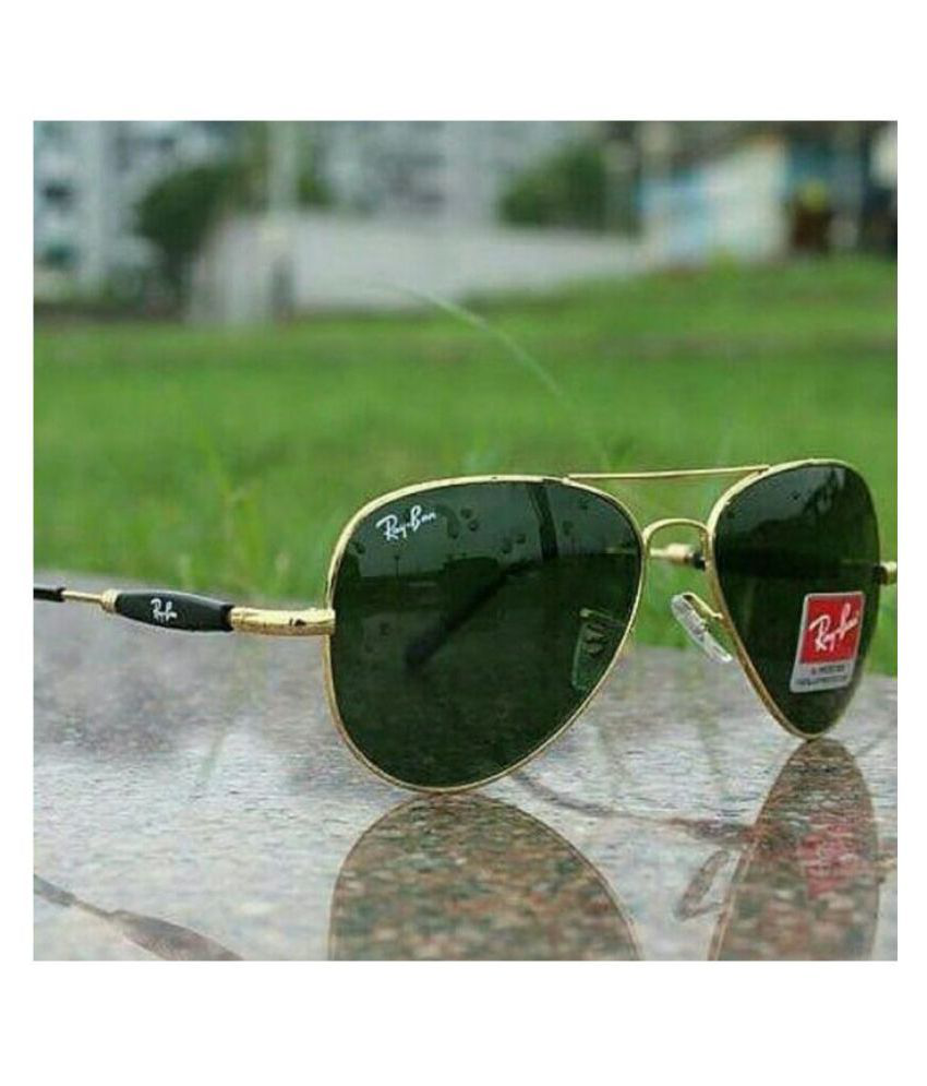 09f156d8758 Ray Ban Avaitor Green Aviator Sunglasses ( Model Number:3517 )
