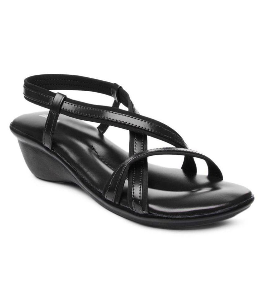 a0e789da5d6e Bata Black Wedges Heels Price in India- Buy Bata Black Wedges Heels Online  at Snapdeal
