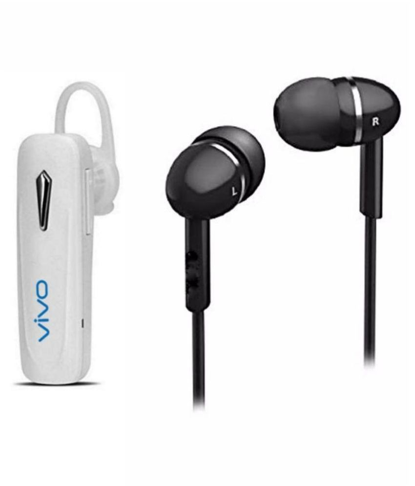 Buy Lalpal Vivo Bluetooth And Handsfree Combo On Ear Headset With Mic Multicolor Online At Best Price In India Snapdeal