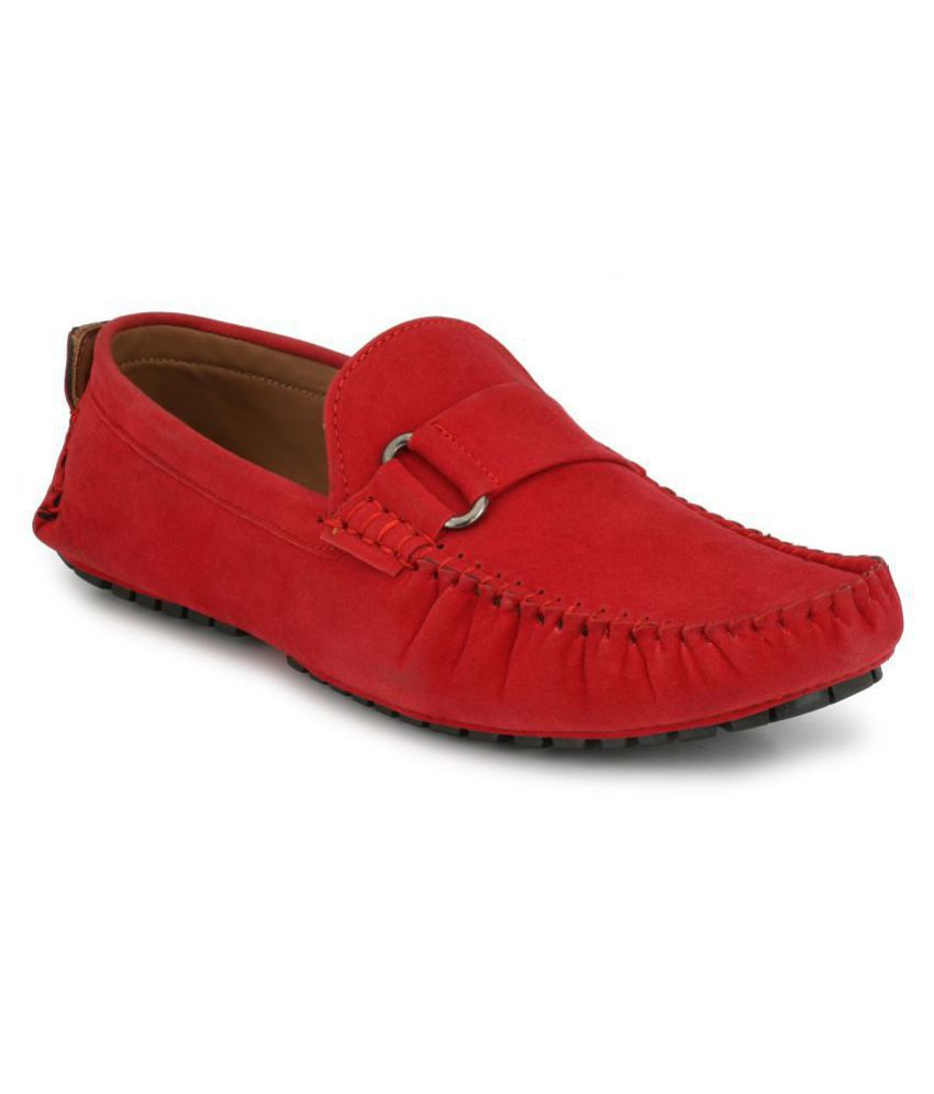 ZebX Red Loafers - Buy ZebX Red Loafers Online at Best Prices in India on  Snapdeal