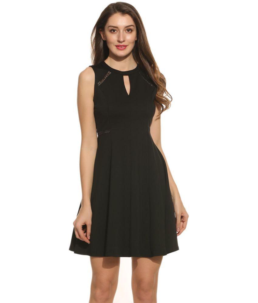 Generic Lace Black Asymmetric dress