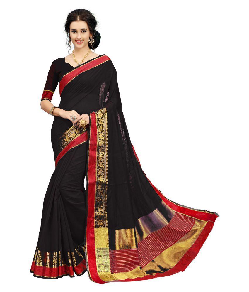 79e2636a2bd412 Soru Fashion Red and Black Banarasi Silk Saree - Buy Soru Fashion Red and Black  Banarasi Silk Saree Online at Low Price - Snapdeal.com