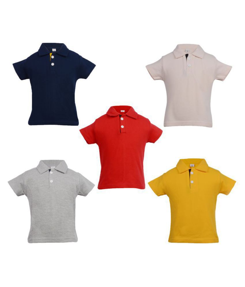 df1cc3cb58a Gkidz Infants Pack of 5 Multi color Polo T-shirts - Buy Gkidz Infants Pack  of 5 Multi color Polo T-shirts Online at Low Price - Snapdeal