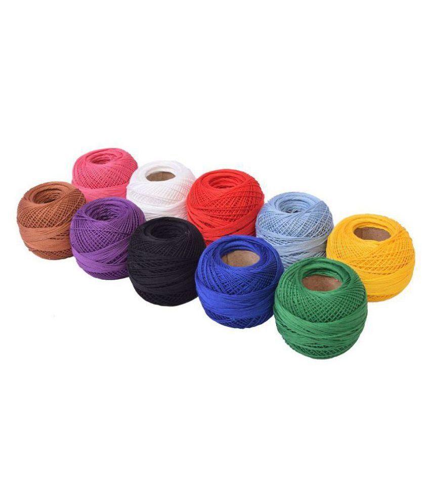 Vardhman Cotton Anchor Crochet Thread Ball Multicolour Size 20