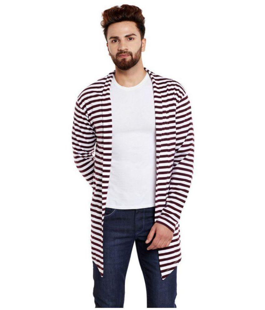 Chill Winston Maroon Shawl Neck Sweater