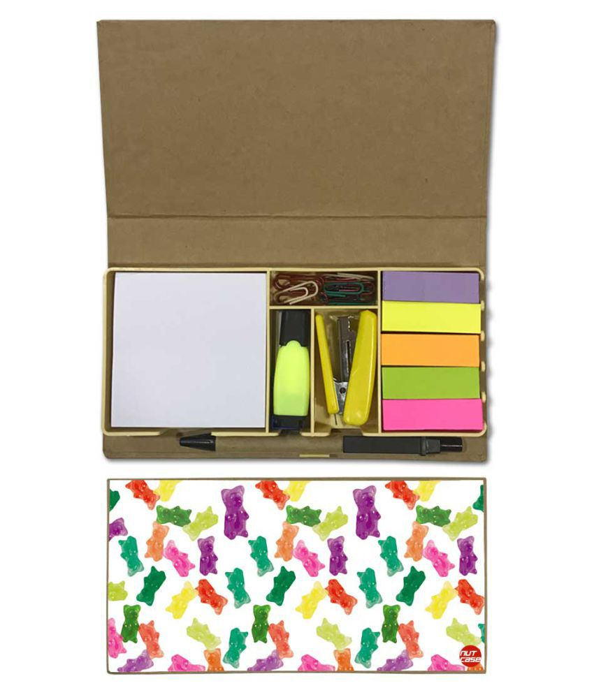 Nutcase Designer Stationary Kit Desk Customised Organizer Memo Notepad - Gummy bear