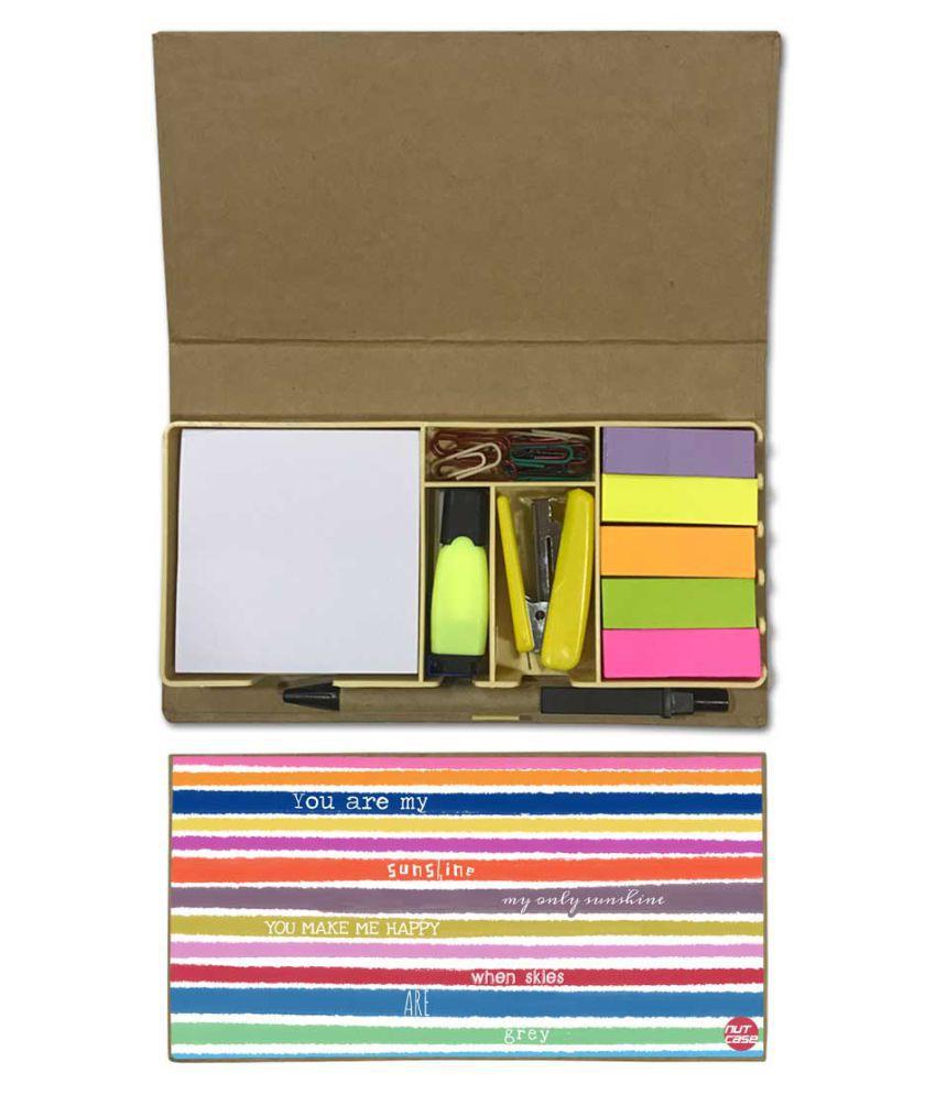 Nutcase Designer Stationary Kit Desk Customised Organizer Memo Notepad - You Make ME Happy