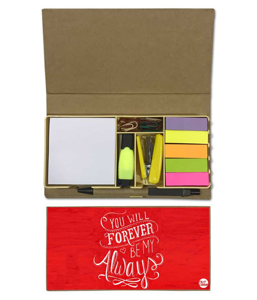 Nutcase Designer Stationary Kit Desk Customised Organizer Memo Notepad - You Will Forever Be My