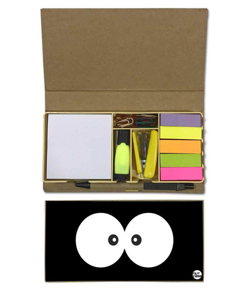 Nutcase Designer Stationary Kit Desk Customised Organizer Memo Notepad - Cute Eye