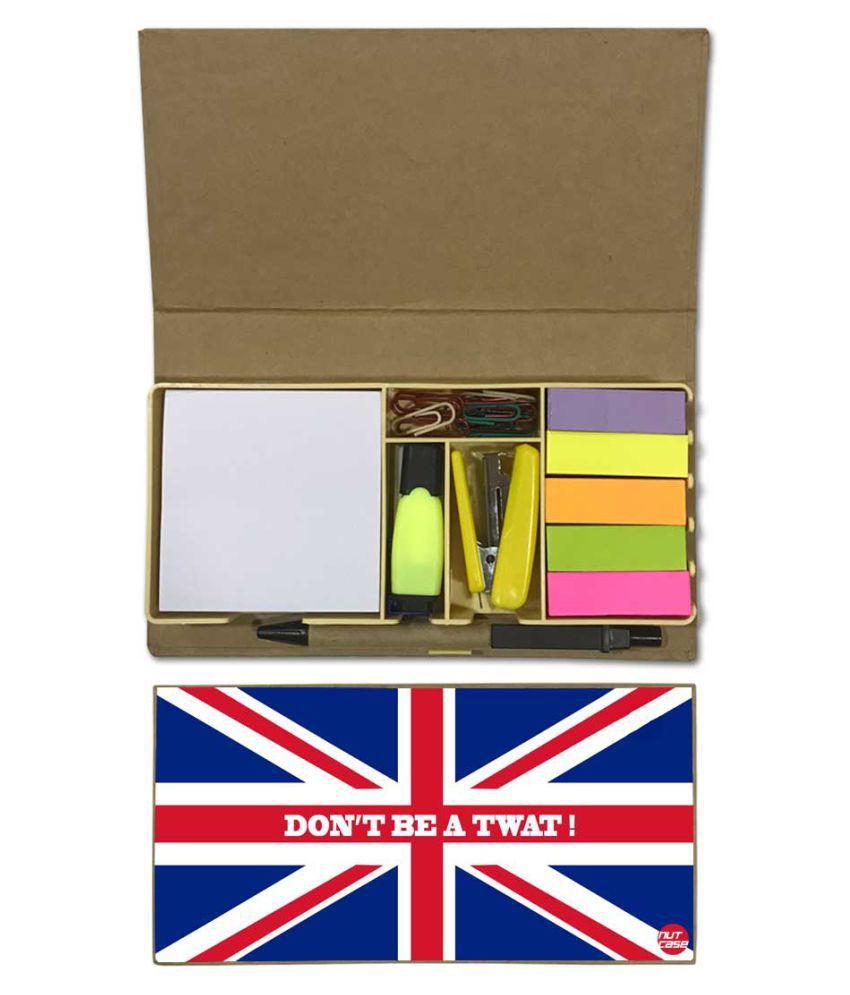 Nutcase Designer Stationary Kit Desk Customised Organizer Memo Notepad - Don'T Be A Twat