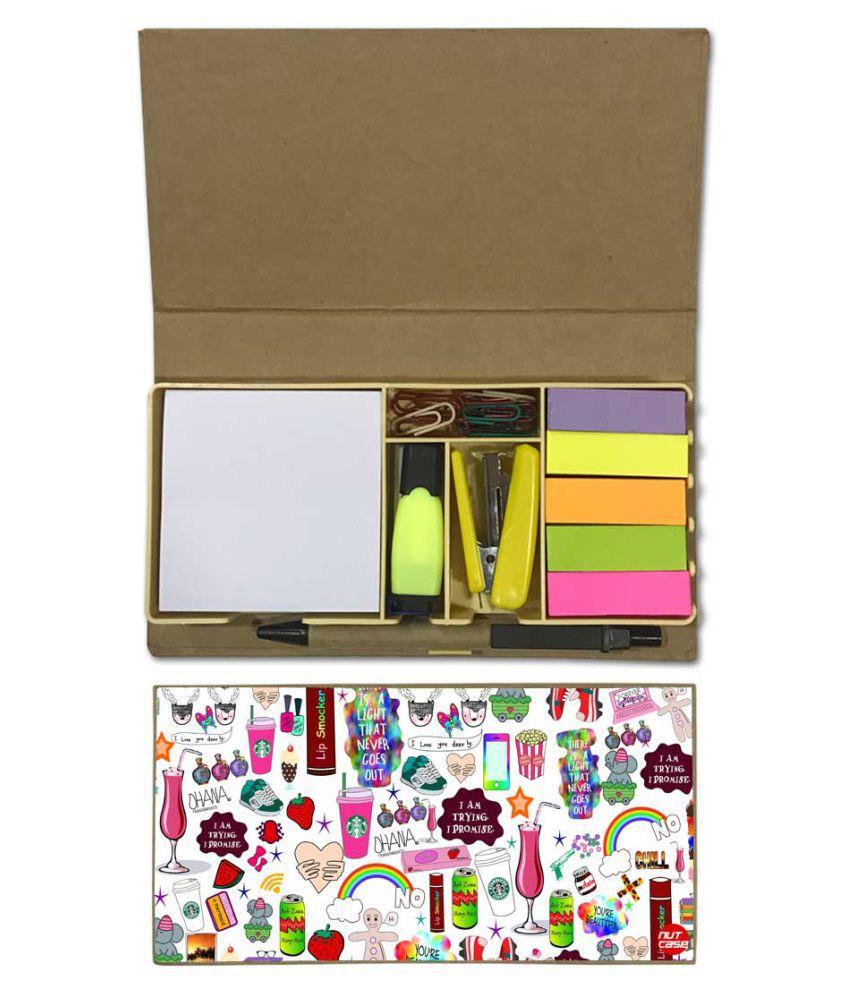 Nutcase Designer Stationary Kit Desk Customised Organizer Memo Notepad - I Am Trying