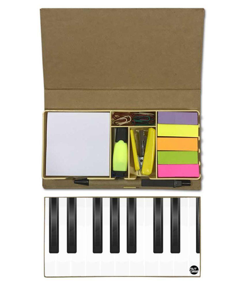 Nutcase Designer Stationary Kit Desk Customised Organizer Memo Notepad - Piano