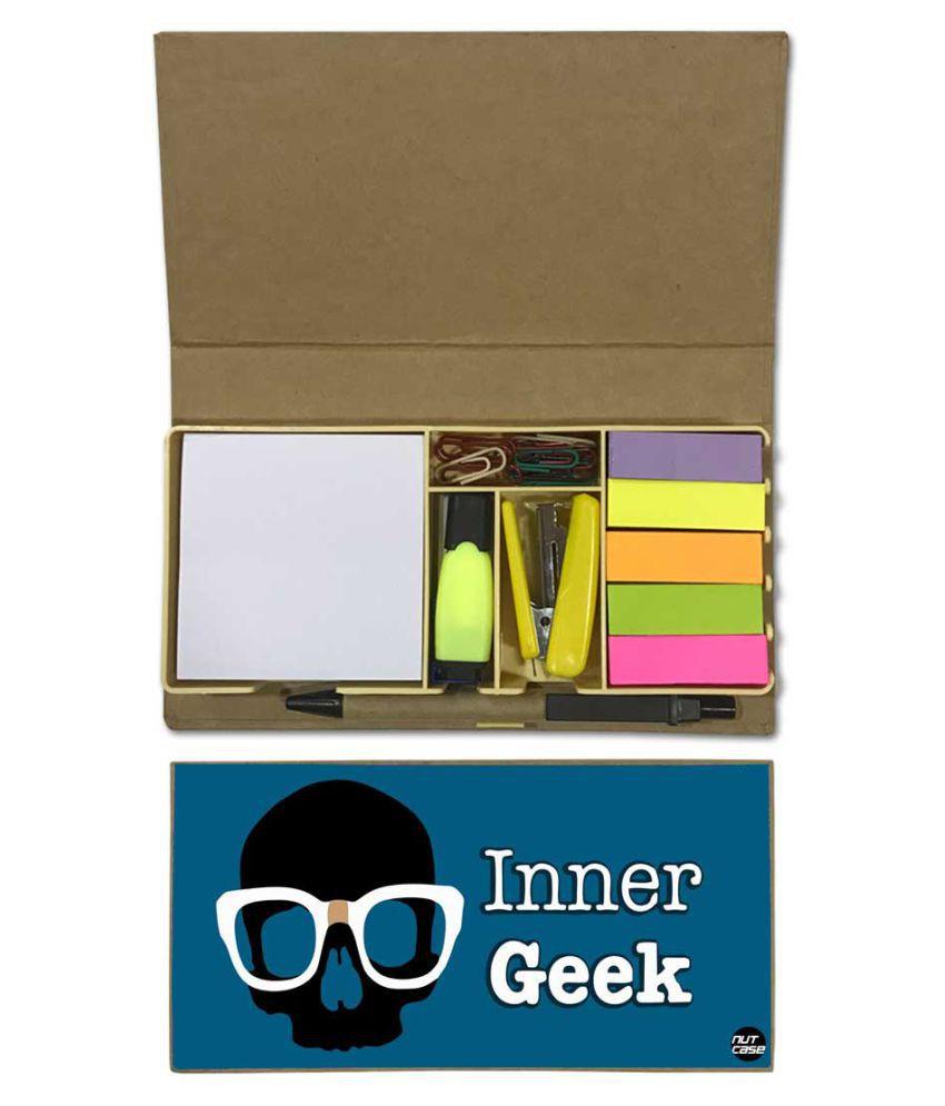 Nutcase Designer Stationary Kit Desk Customised Organizer Memo Notepad - Inner Grek