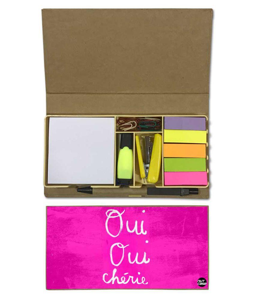 Nutcase Designer Stationary Kit Desk Customised Organizer Memo Notepad - Oui Cherie